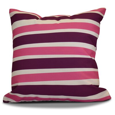 Hanukkah 2016 Decorative Holiday Striped Euro Pillow Color: Purple