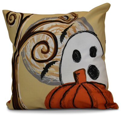 Flipping for Fall Ooky Spooky Geometric Throw Pillow Size: 18 H x 18 W x 2 D, Color: Gold