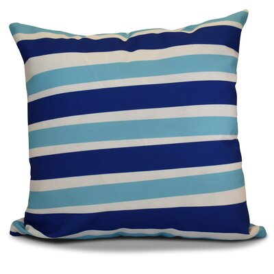 Hanukkah 2016 Decorative Holiday Striped Outdoor Throw Pillow Size: 16 H x 16 W x 2 D, Color: Royal Blue