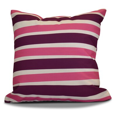 Hanukkah 2016 Decorative Holiday Striped Outdoor Throw Pillow Size: 16