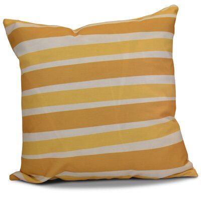 Hanukkah 2016 Decorative Holiday Striped Outdoor Throw Pillow Size: 18 H x 18 W x 2 D, Color: Gold