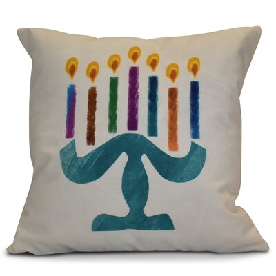 Hanukkah 2016 Decorative Holiday Geometric Throw Pillow Size: 16 H x 16 W x 2 D