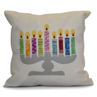 Hanukkah 2016 Decorative Holiday Geometric Euro Pillow Color: White
