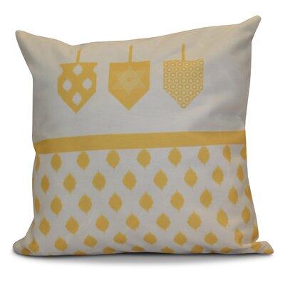 Hanukkah 2016 Decorative Holiday Geometric Euro Pillow Color: Yellow