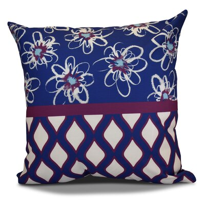 Hanukkah 2016 Decorative Holiday Geometric Euro Pillow Color: Purple