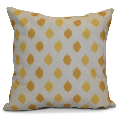 Hanukkah 2016 Decorative Holiday Geometric Throw Pillow Color: Yellow, Size: 16 H x 16 W x 2 D