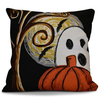 Flipping for Fall Ooky Spooky Geometric Euro Pillow Color: Black