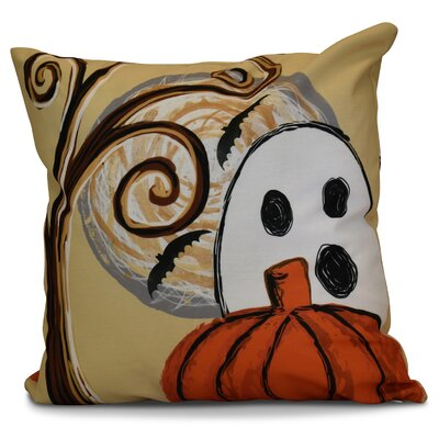 Flipping for Fall Ooky Spooky Geometric Euro Pillow Color: Gold