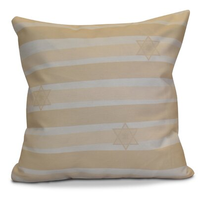 Hanukkah 2016 Decorative Holiday Striped Euro Pillow Color: Cream / Off White