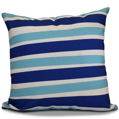 Hanukkah 2016 Decorative Holiday Striped Throw Pillow Color: Royal Blue, Size: 18 H x 18 W x 2 D