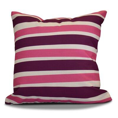 Hanukkah 2016 Decorative Holiday Striped Throw Pillow Size: 18 H x 18 W x 2 D, Color: Purple