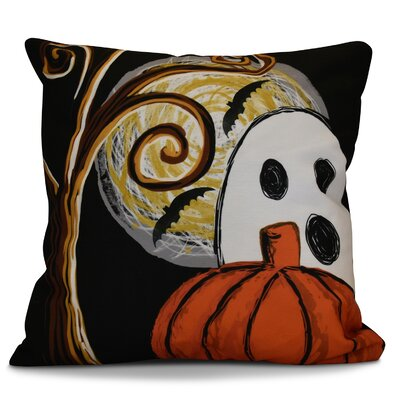 Flipping for Fall Ooky Spooky Geometric Outdoor Throw Pillow Color: Black, Size: 20 H x 20 W x 2 D