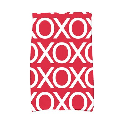 Love is in the Air Hand Towel Color: Red