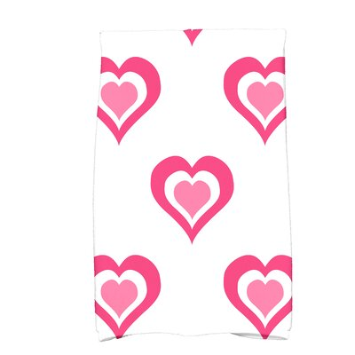 Love is in the Air Valentine Print Hand Towel Color: Fuschia