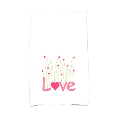 Love is in the Air Valentine Hand Towel Color: Fuschia