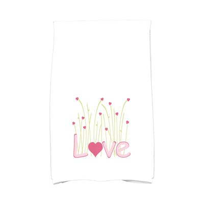 Love is in the Air Valentine Hand Towel Color: Pink
