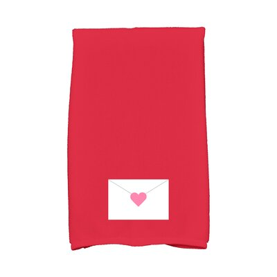 Love is in the Air Valentine Hand Towel Color: Red