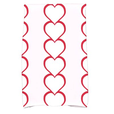 Love is in the Air Valentine Print Hand Towel Color: Red