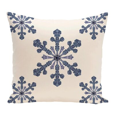 Hume Holiday Print Throw Pillow Color: Light Blue, Size: 18 H x 18 W