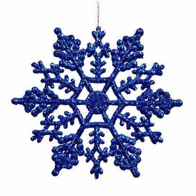 Glitter Snowflake Christmas Ornament Color: Lavish Blue
