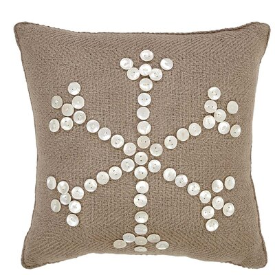 Pearlescent Cotton Throw Pillow