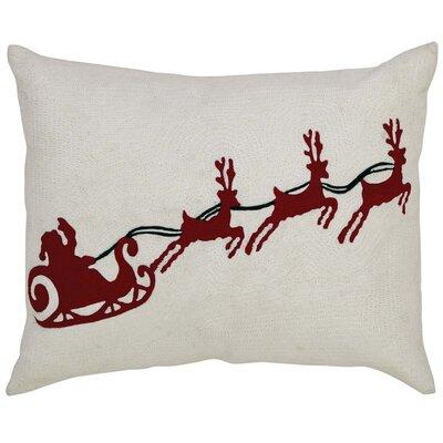 Santa Sleigh Lumbar Pillow