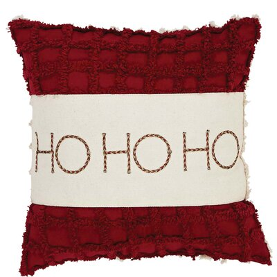 Hopewell HO HO HO Cotton Throw Pillow