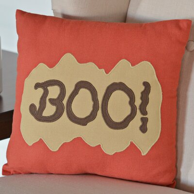 Boo Cotton Throw Pillow
