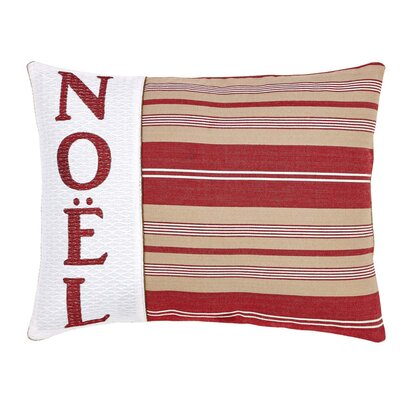Vintage Stripe Noel Lumbar Pillow