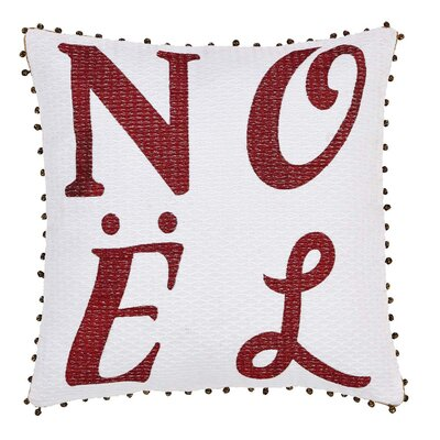 Vintage Stripe Noel Throw Pillow