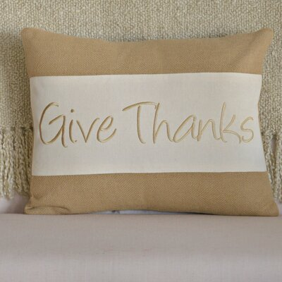 Give Thanks Cotton Throw Pillow