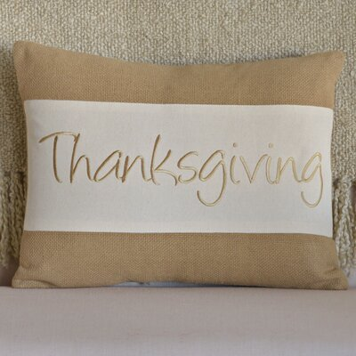 Thanksgiving Cotton Lumbar Pillow