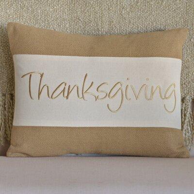 Thanksgiving Cotton Lumbar Pillow