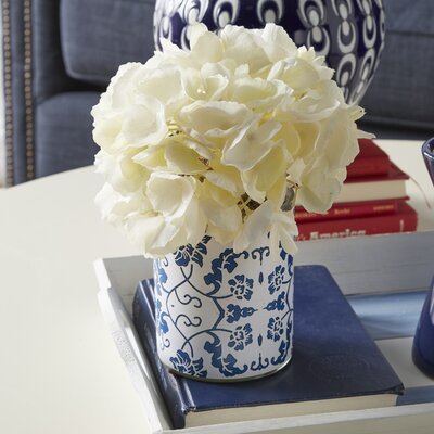 Hydrangea Cluster Papered Glass