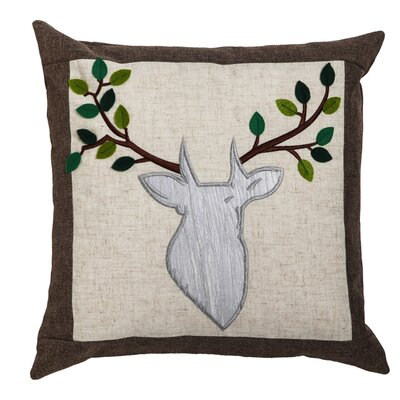 Serene Forest Deer Indoor/Outdoor Throw Pillow
