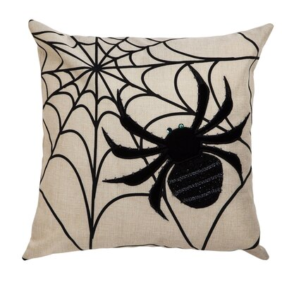 Caught in a Web Spider Indoor/Outdoor Throw Pillow