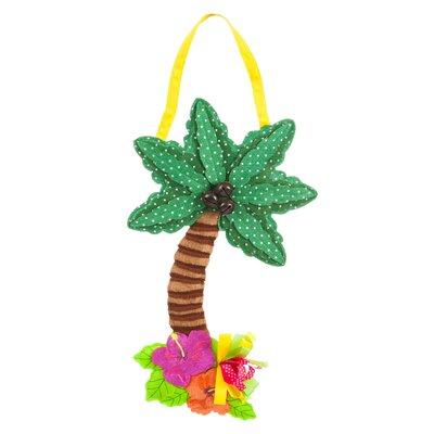 Palm Tree Burlap Door Sign HLDY7228 36907050