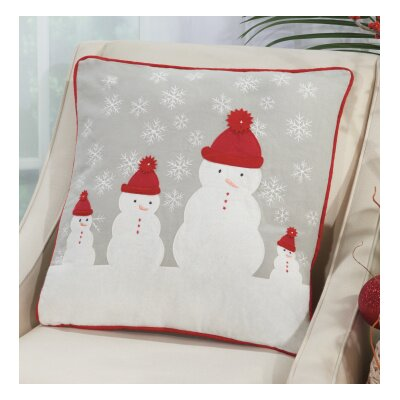 Home For The Holidays Throw Pillow Color: Red