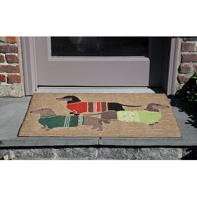Hand-Tufted Natural Indoor/Outdoor Area Rug Rug Size: Rectangle 18 x 26