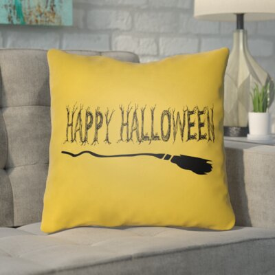 Trianguli Indoor/Outdoor Throw Pillow Color: Light Orange, Size: 20 H x 20 W x 4 D