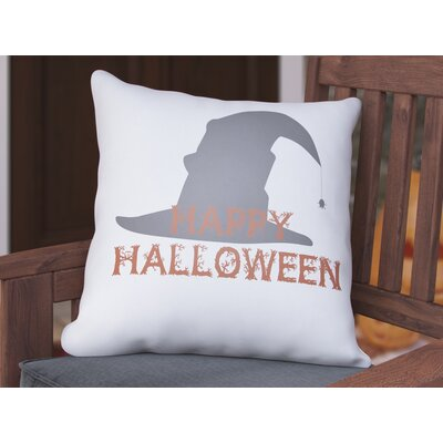 Omicron Indoor/Outdoor Throw Pillow Size: 18 H x 18 W x 4 D, Color: White