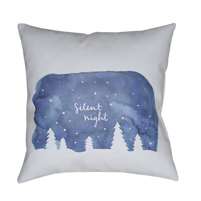 Silent Night Indoor/outdoor Throw Pillow Size: 20 H x 20 W x 4 D