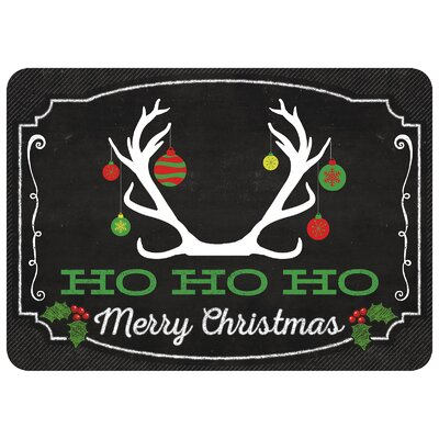 Deer Ornament Kitchen Mat