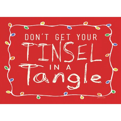 Tinsel Tangle Kitchen Mat