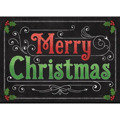 Merry Christmas Kitchen Mat