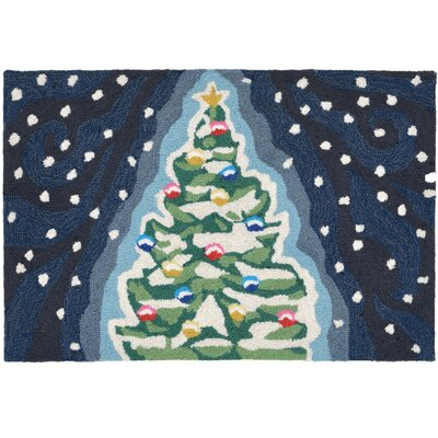 Xmas Tree Doormat Mat Size: Rectangle 18 x 26