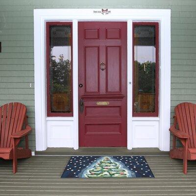 Xmas Tree Doormat Rug Size: 2 x 3