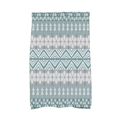 Fair Isle Geometric Print Hand Towel Color: Blue