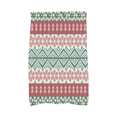 Fair Isle Geometric Print Hand Towel Color: Red