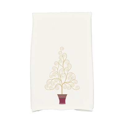 Filigree Tree Hand Towel Color: White